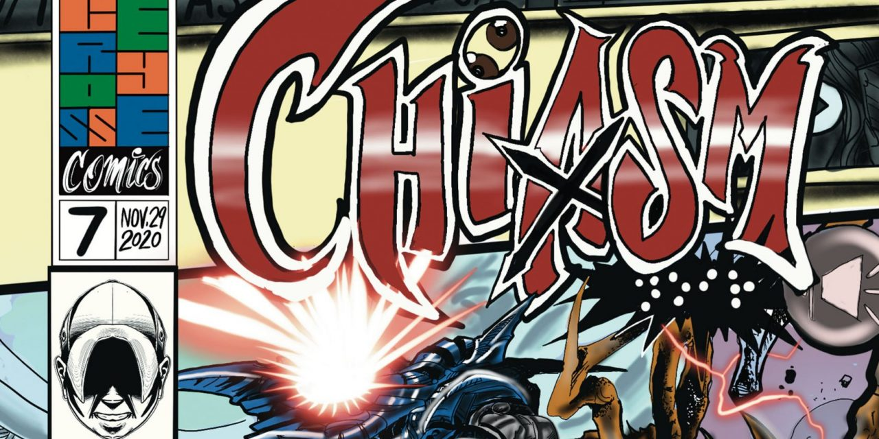 LEGALLY BLIND COMIC BOOK ARTIST RELEASES ISSUE SEVEN OF COMIC BOOK  SERIES, CHIASM, ON COMIXOLOGY.
