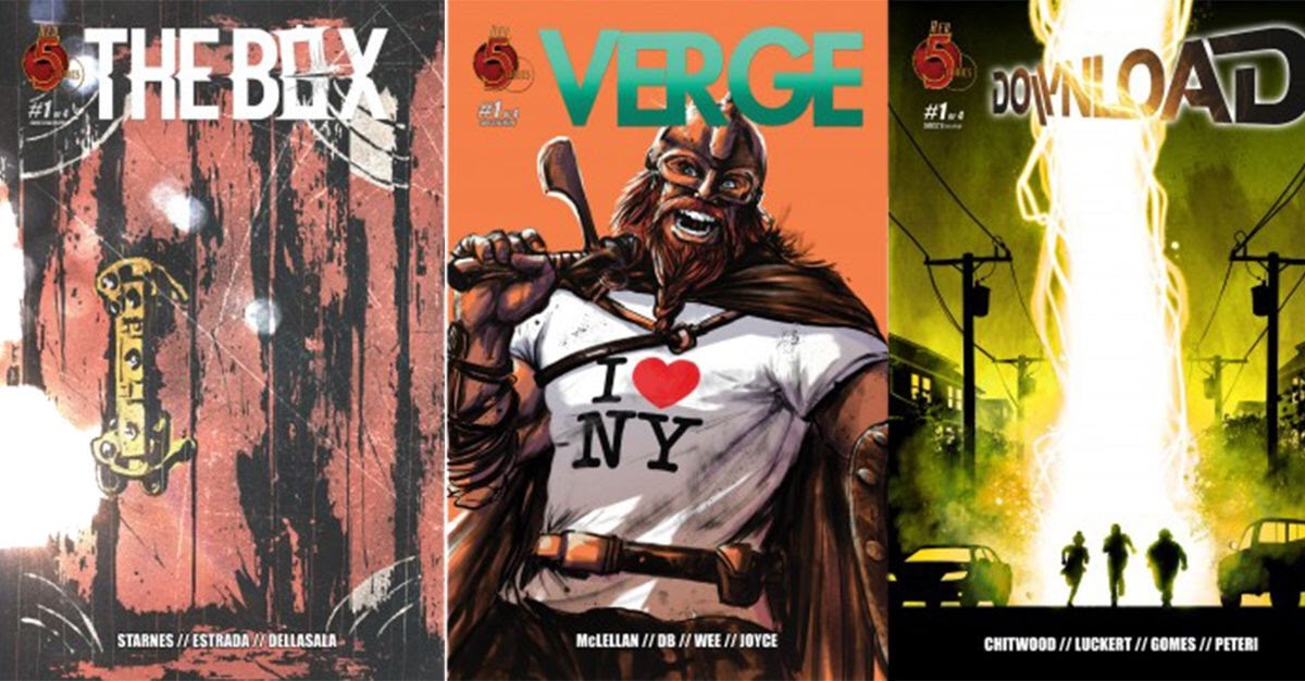 Red 5 Comics offers SDCC@Home exclusive variants for upcoming series The Box, Verge and Download