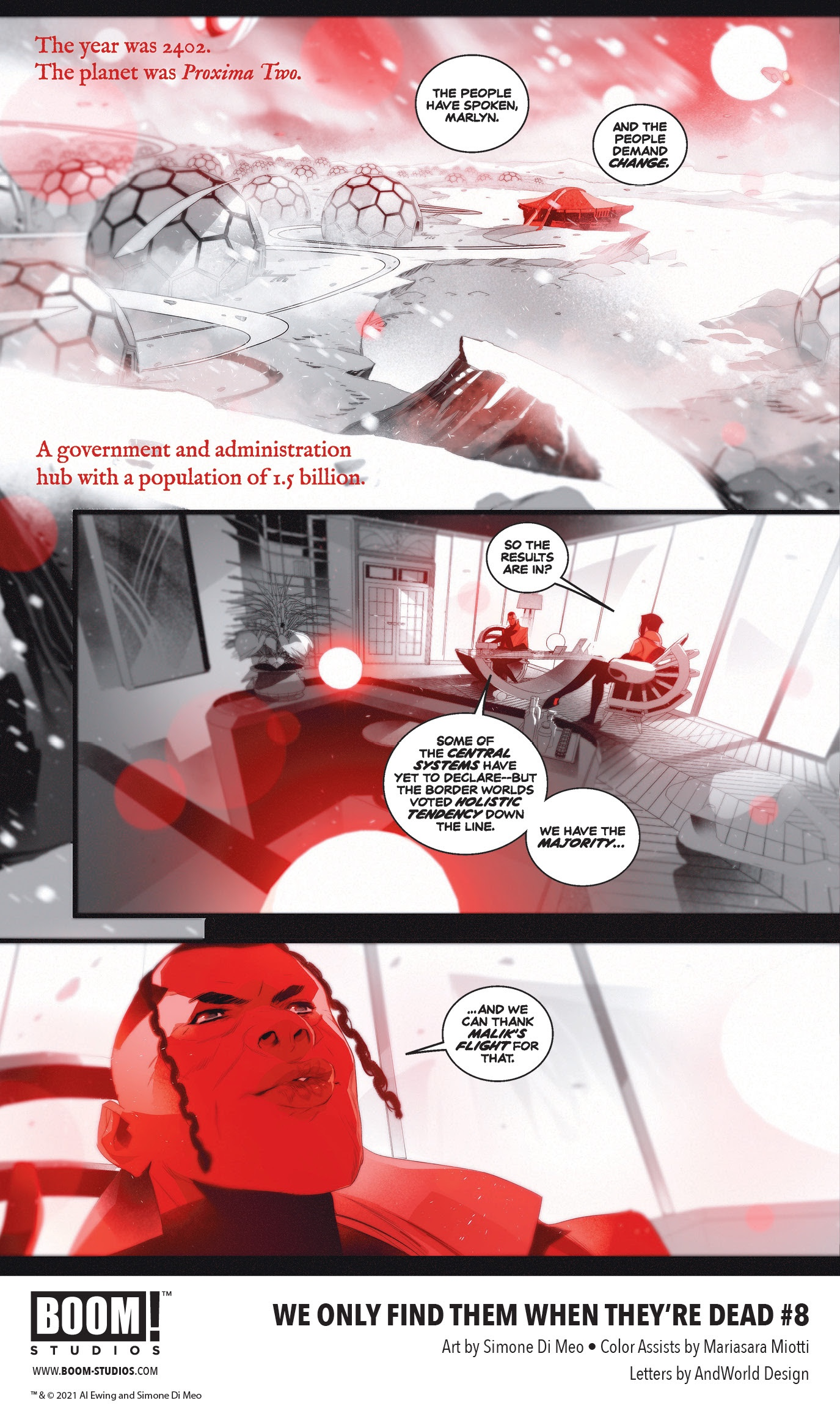 , Change the Fate of the Galaxy Forever in WE ONLY FIND THEM WHEN<br>THEY'RE DEAD #8, The Indie Comix Dispatch
