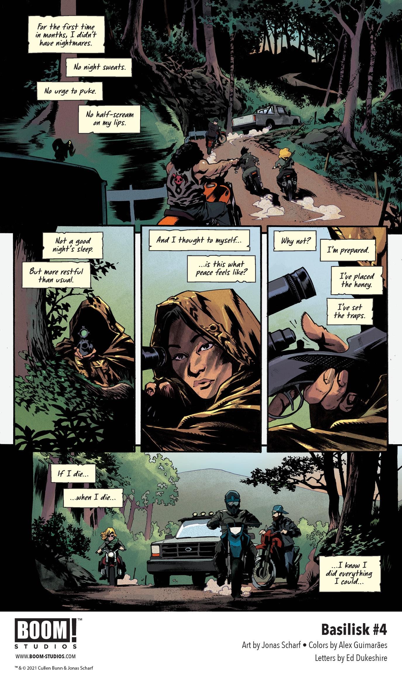 , FIRST LOOK: Cullen Bunn and Jonas Scharf's BASILISK #4, The Indie Comix Dispatch