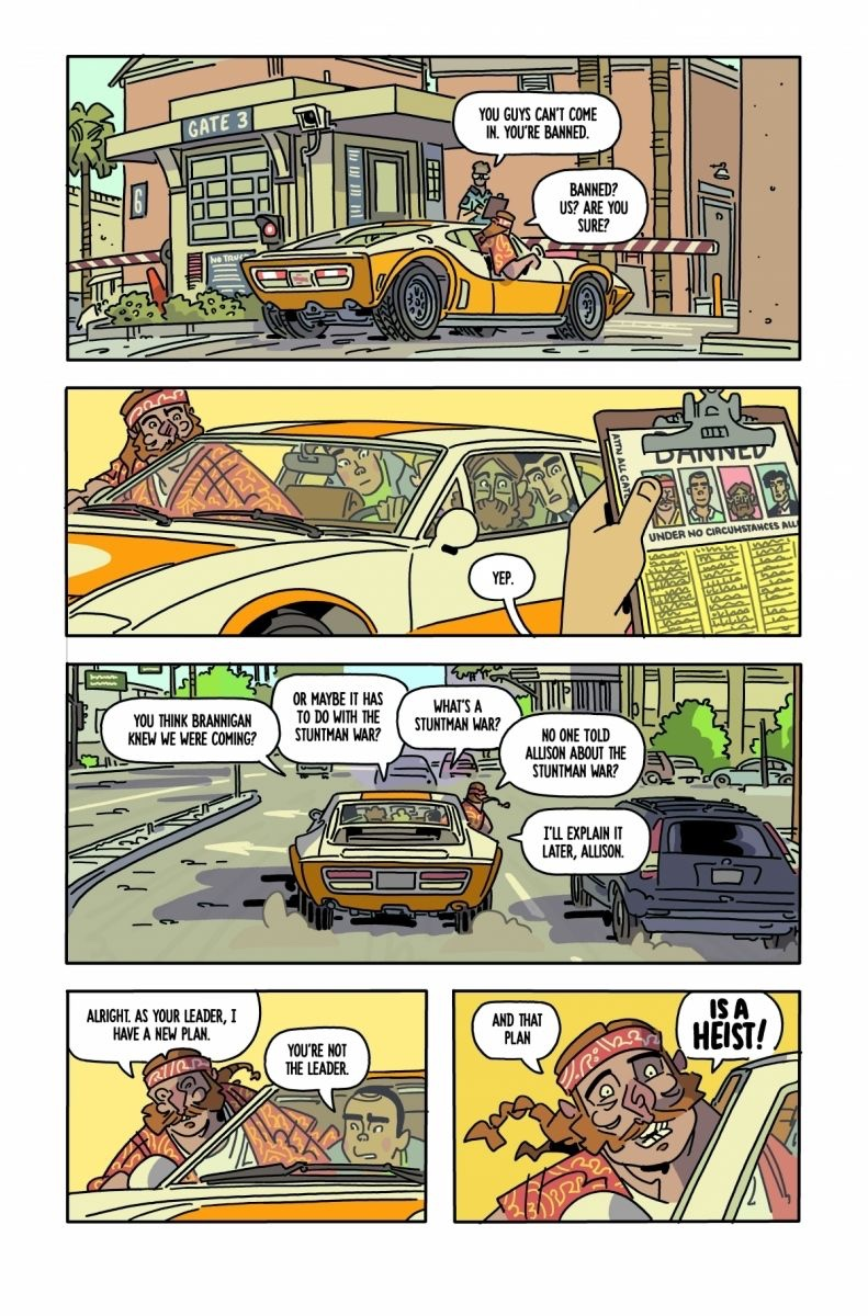 , NOTHING WILL GO WRONG IN KYLE STARKS & CHRIS SCHWEIZER'S THE SIX SIDEKICKS OF TRIGGER KEATON #4, The Indie Comix Dispatch