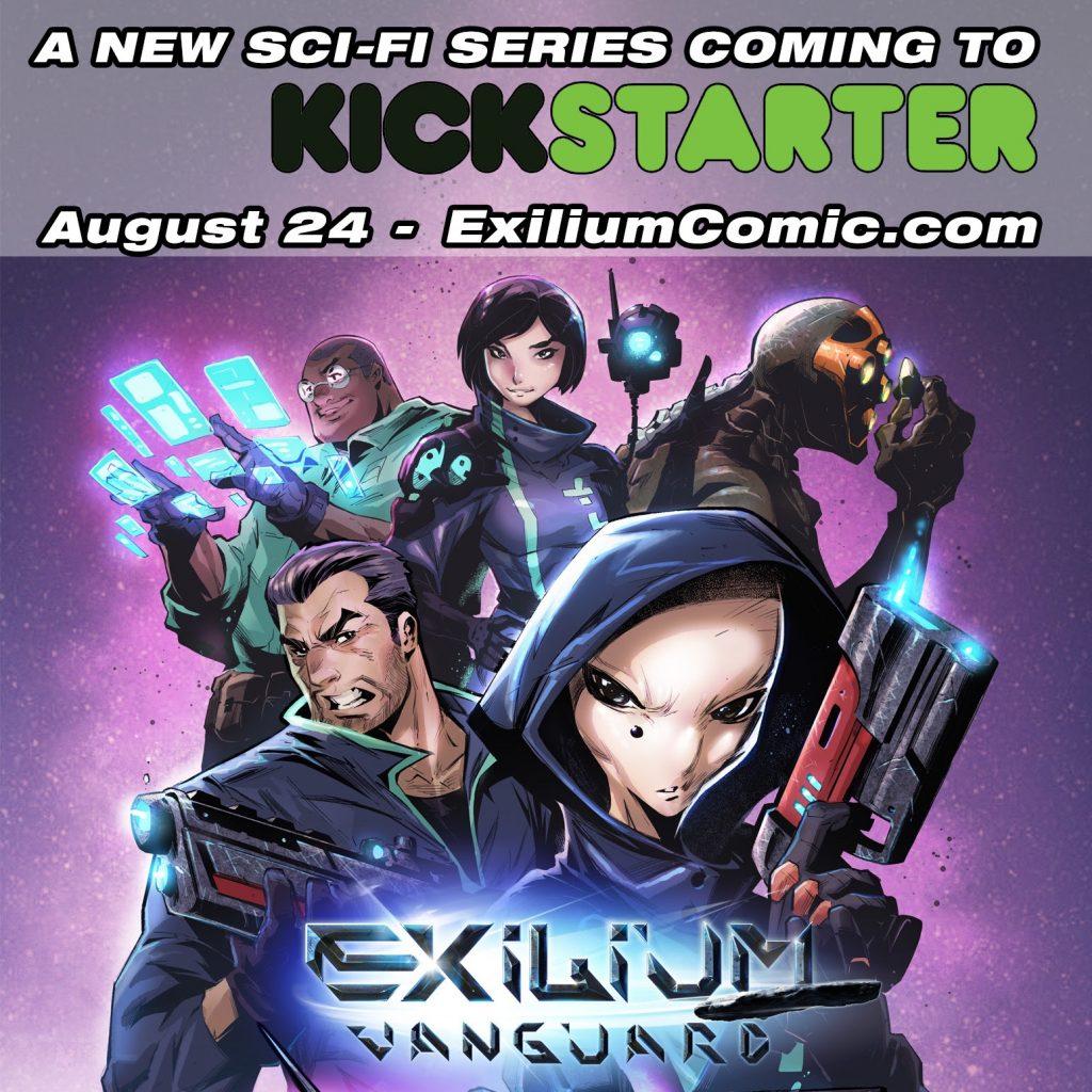 , Immersive Sci-Fi Action Series 'Exilium' returns to Kickstarter, The Indie Comix Dispatch