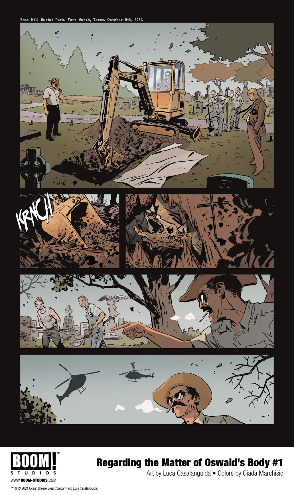 , Christopher Cantwell and Luca Casalunguida Debut REGARDING THE MATTER OF OSWALD'S BODY, The Indie Comix Dispatch