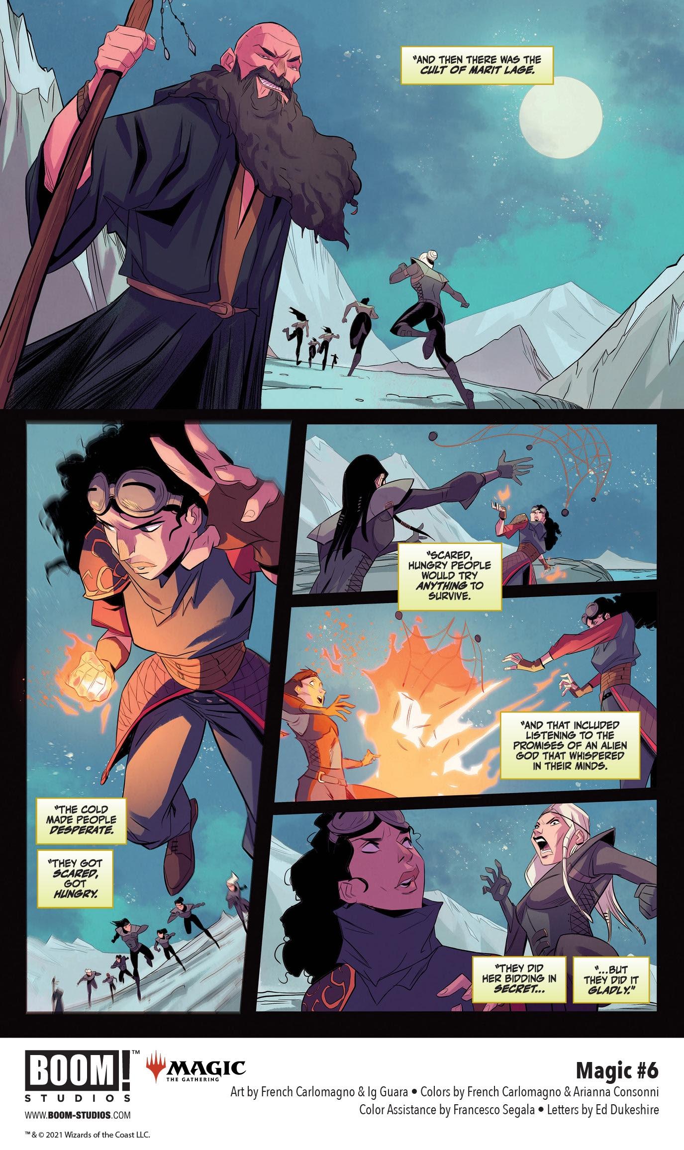 , Secret Origins of Planeswalker Jaya Ballard in MAGIC #6 from BOOM! Studios, The Indie Comix Dispatch