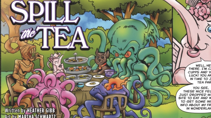 , The Invasion Continues: Orange Cone Productions announces Cthulhu Invades Wonderland, The Indie Comix Dispatch