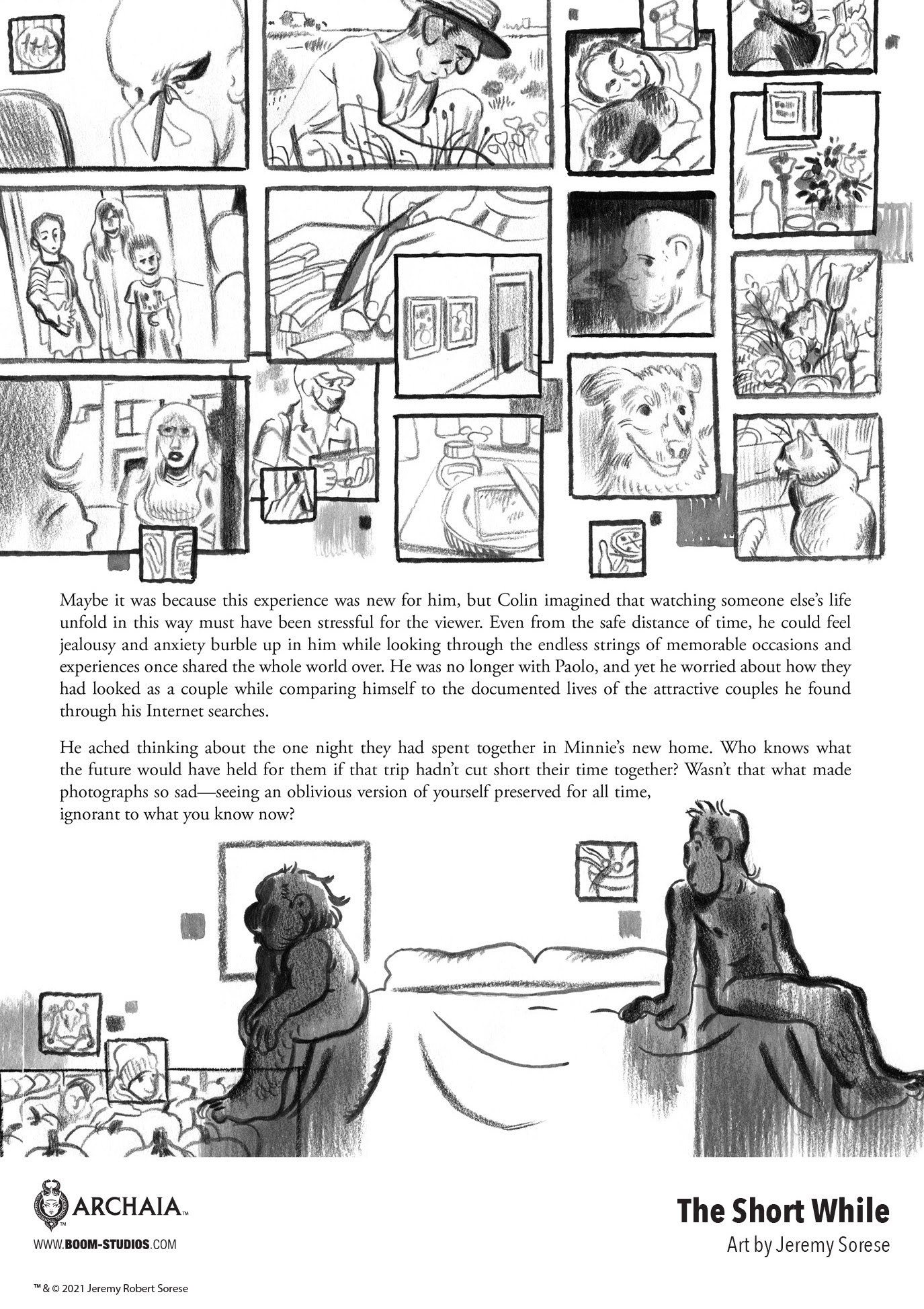 , The Future of Love in Jeremy Sorese's THE SHORT WHILE, The Indie Comix Dispatch