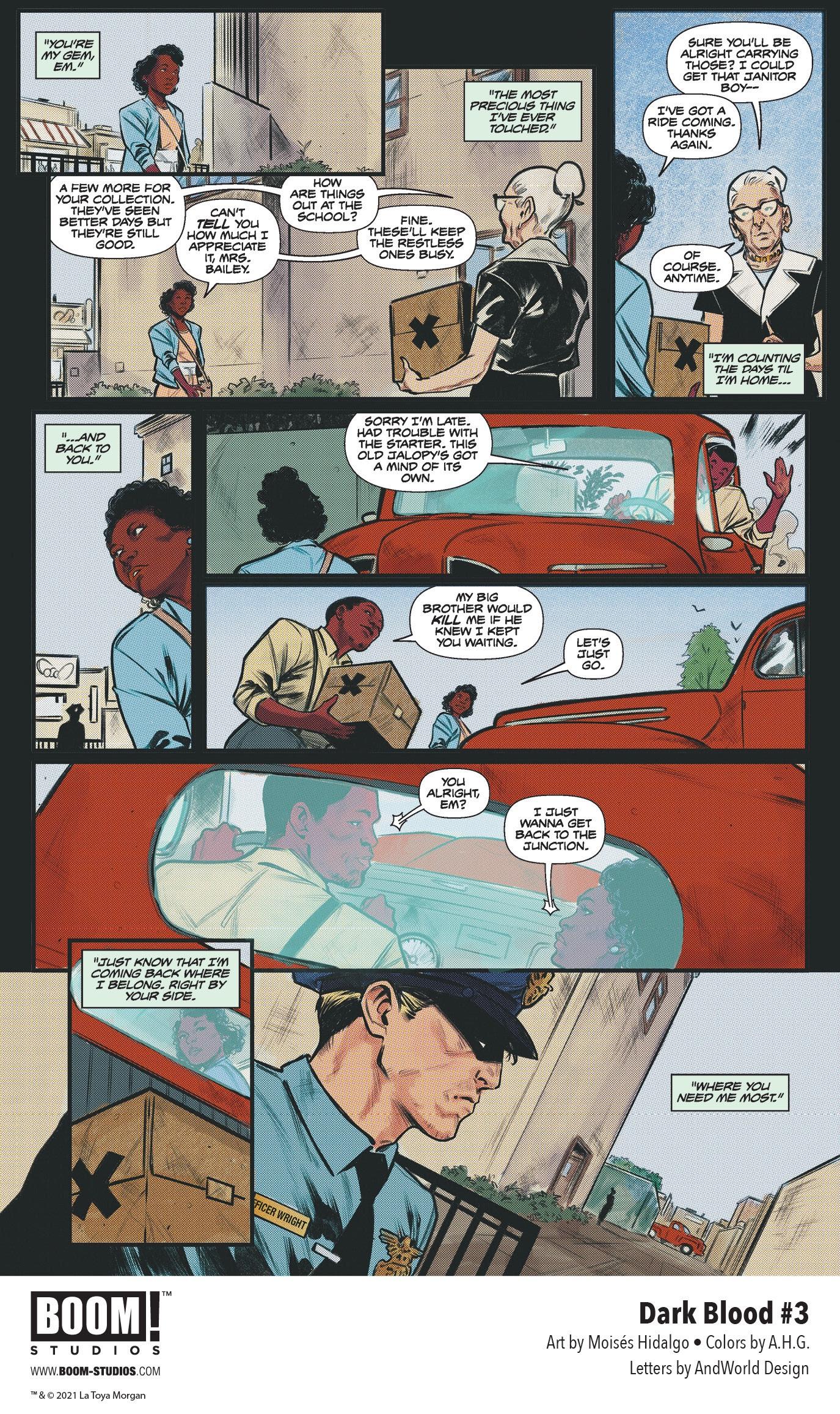 , Painful Memories Resurface in LaToya Morgan's DARK BLOOD #3, The Indie Comix Dispatch