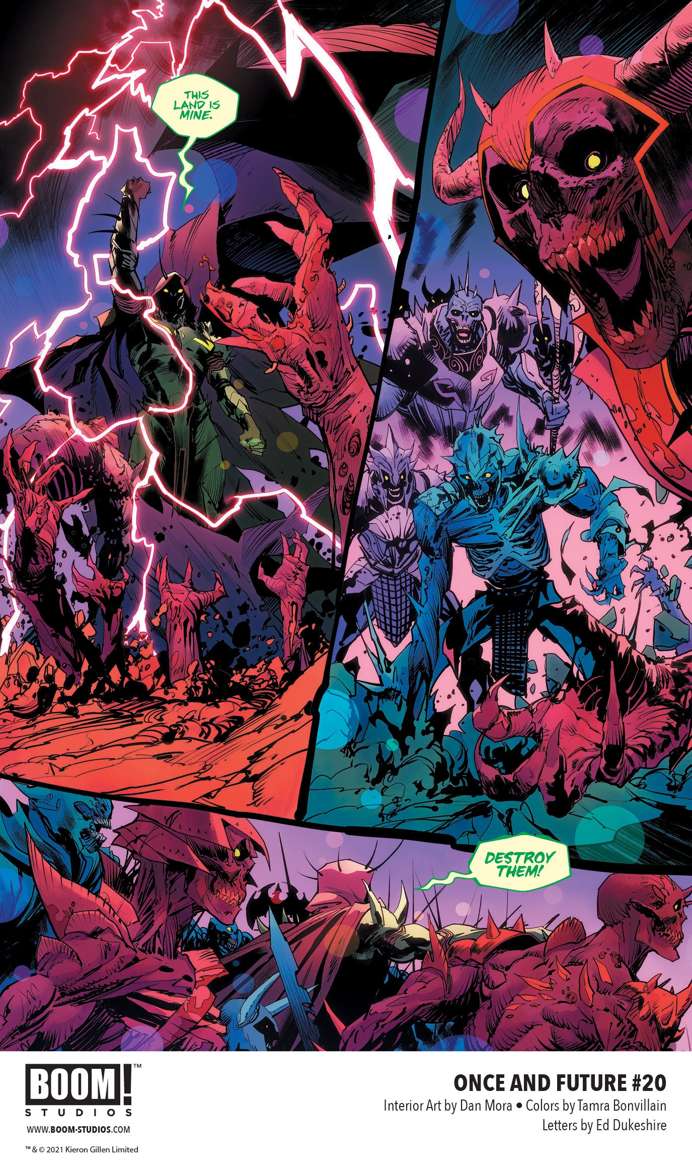 , It's ARTHUR VS. ARTHUR in ONCE & FUTURE #20, The Indie Comix Dispatch