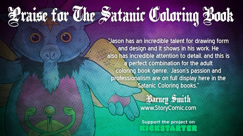 , Indie Comic Creator Launches The Satanic Coloring Book Volumes 1 & 2 on Kickstarter!, The Indie Comix Dispatch